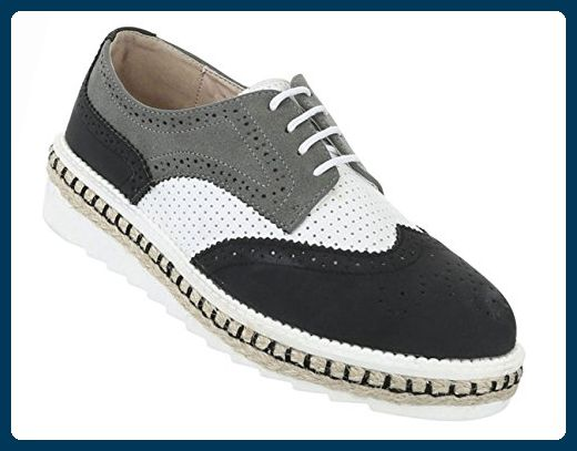 Damen Schuhe Halbschuhe Business Schnürer Schwarz 36