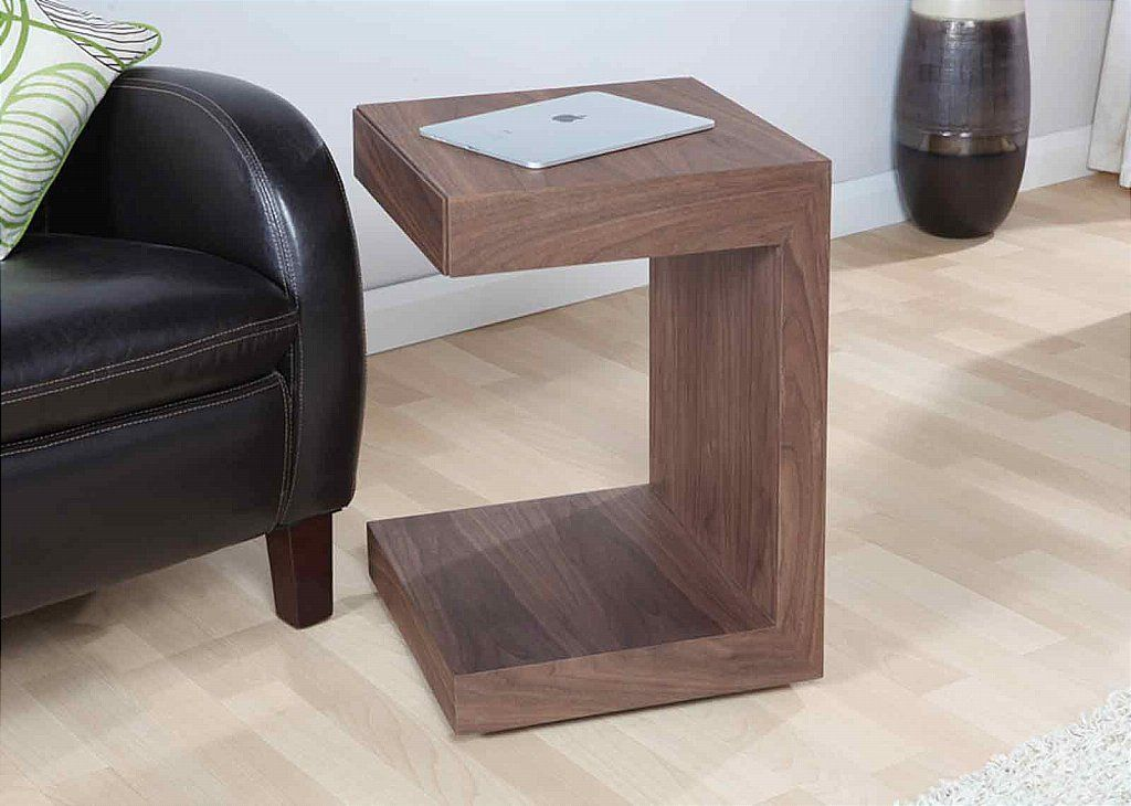 Vale Furnishers Rubix RF625 Utility Table Walnut side