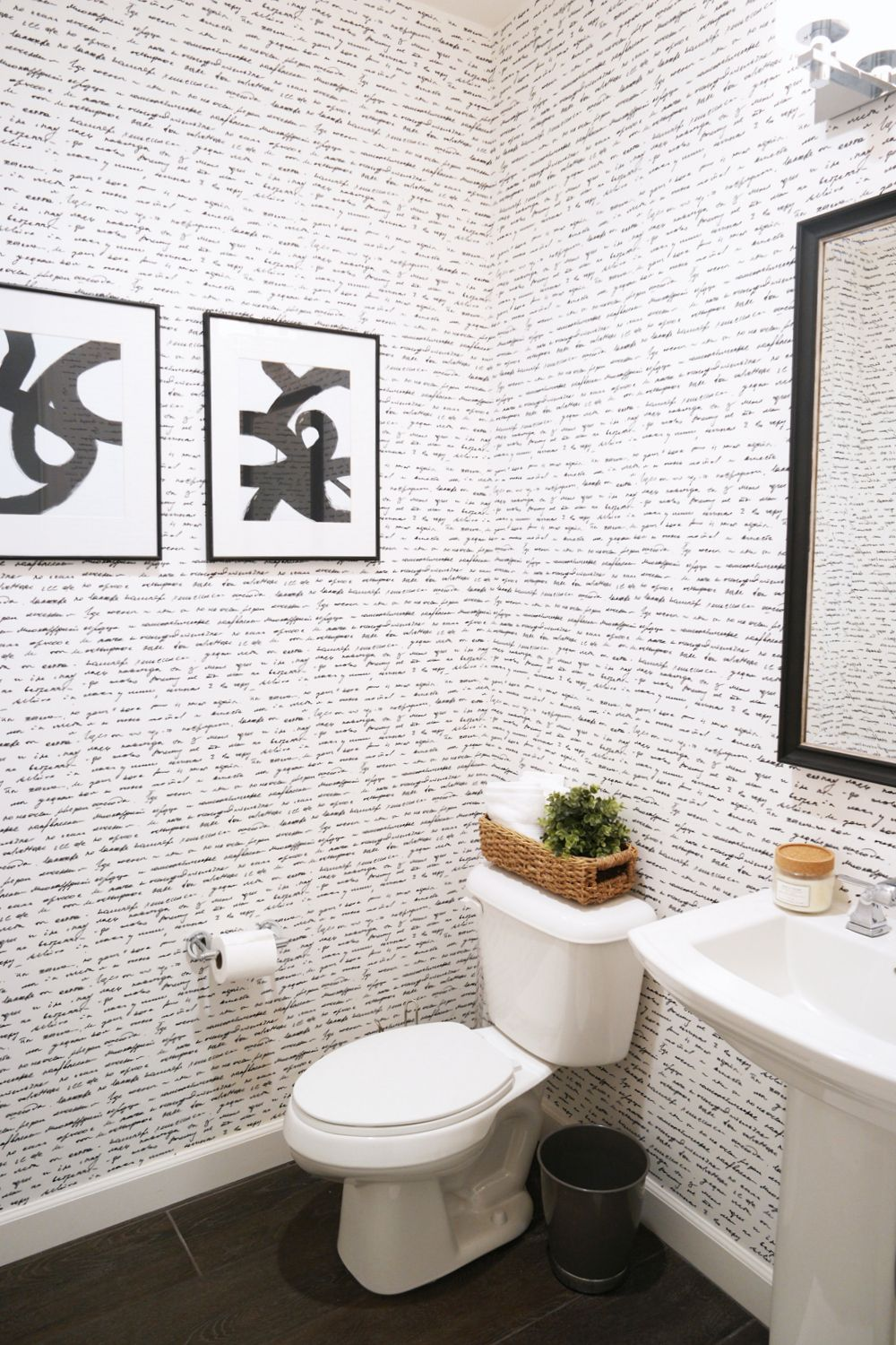Wallpapering the Powder Room + A HowTo Video! Powder