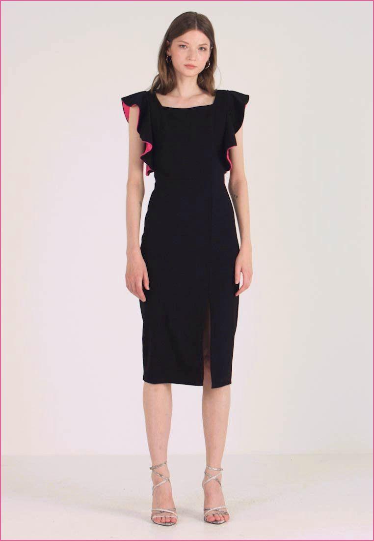 Kleid Schwarz Knielang  Knielange kleider, Kleider, Kleider damen