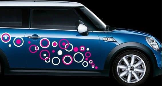 Bubbly Circles Car Decals Httpwwwdezignwithazcombubbly - Modern car sticker decal