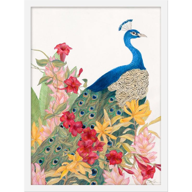 "Medium ""Peacock Paradise"" Print by Allison Cosmos, 18"" X 24"""