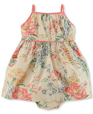 ae41241a0ca Ralph Lauren Baby Girls  Floral Dress - Kids Baby Girl (0-24 months) -  Macy s  28