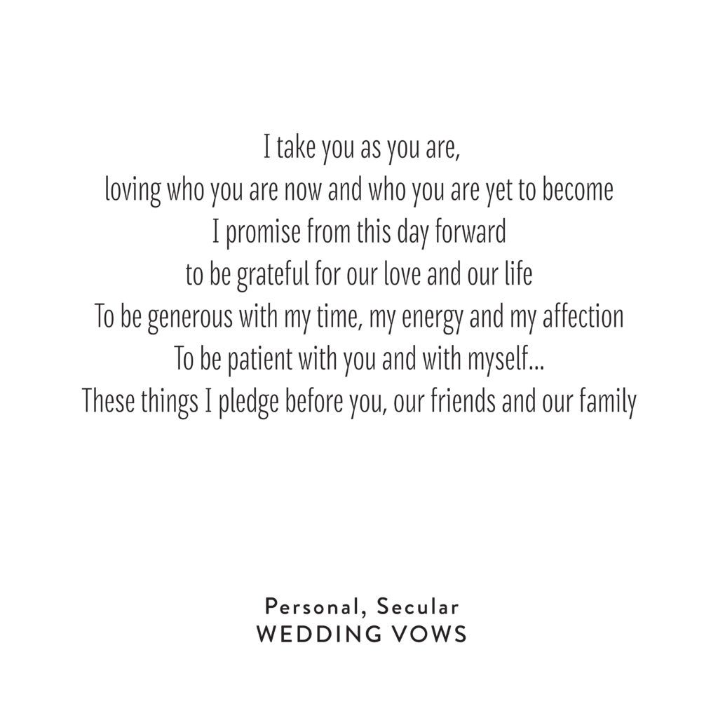 The Most Beautiful Wedding Vows I Have Ever Heard Wedding Vows Examples Modern Wedding Vows Best Wedding Vows