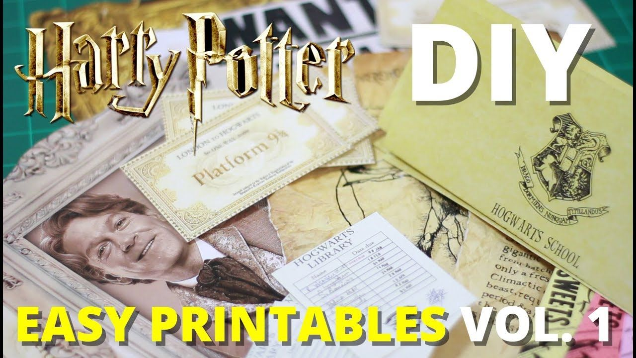 Diy Harry Potter Printables Vol 1 Muggle Magic Youtube Harry Potter Printables Harry Potter Birthday Party Harry Potter Bday