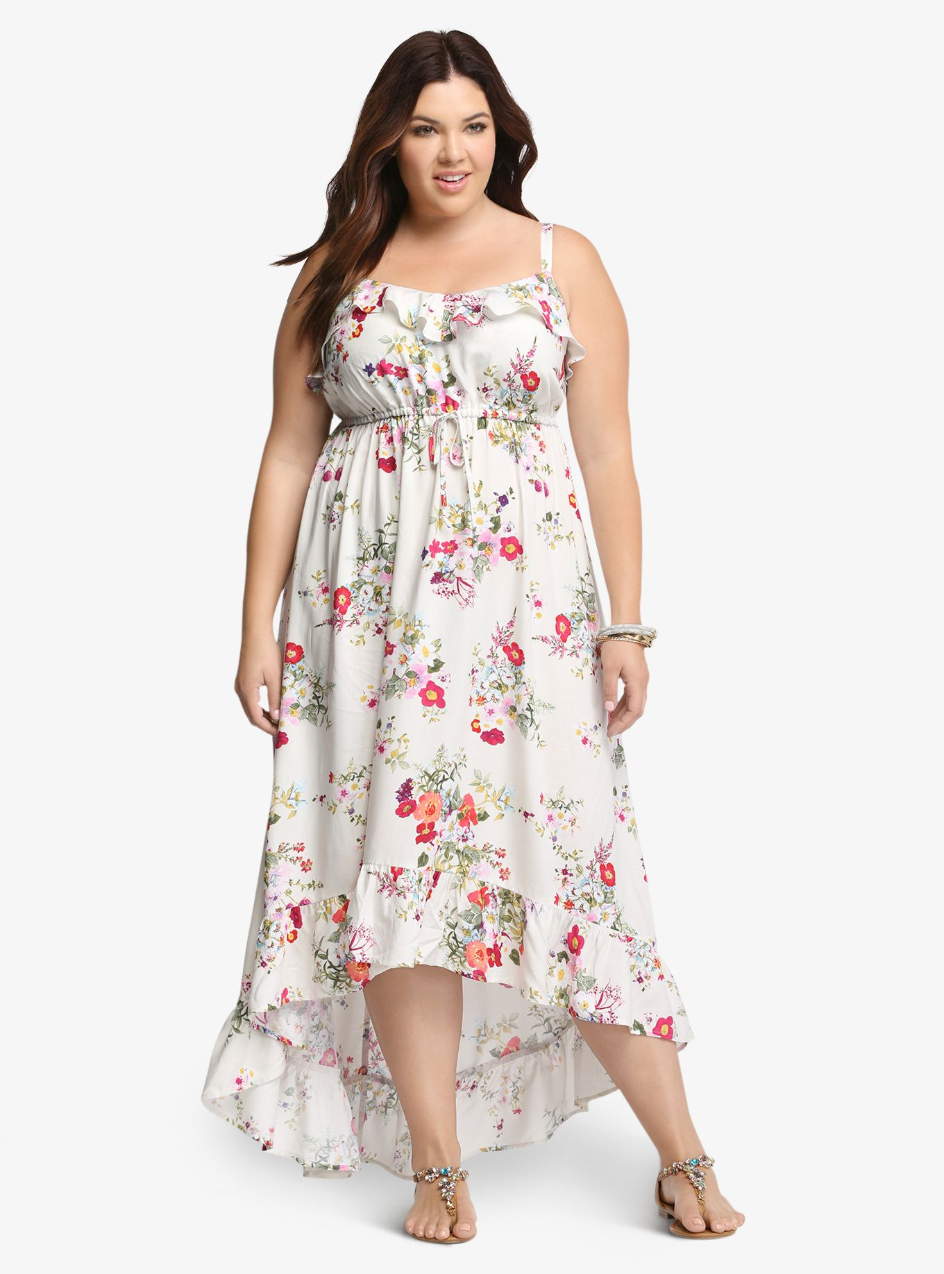 4bc1ee782 Floral Challis Maxi Sundress | Torrid Finds | Plus size sundress ...