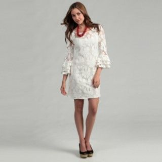 @Overstock - A luxurious lace defines this fashionable cream dress from Jessica Howard. Fully lined, this dress is finished with flattering 3/4-length sleeves and a back zipper closure.http://www.overstock.com/Clothing-Shoes/Jessica-Howard-Womens-Cream-Lace-Dress/6482313/product.html?CID=214117 $71.99