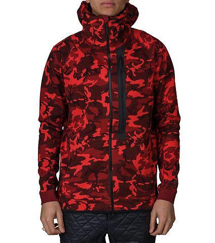 NIKE Tech fleece full zip camouflage hoodie Long sleeves All-over camo  print Full zip