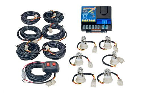 Wolo 8006 1 6c Hideaway 120 Watt Power Supply And Strobe Light Kit With Six Clear Bulbs It Includes Switch Control Panel Pre Wired Strobe Lights Strobing Bulb