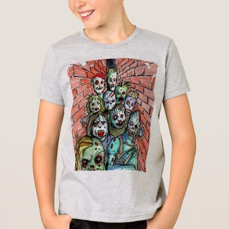 zombie horde T-Shirt - click/tap to personalize and buy