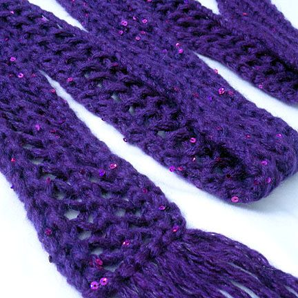Chunky Skinny Lace Scarf Pattern Is Easy Simple And Looks Great