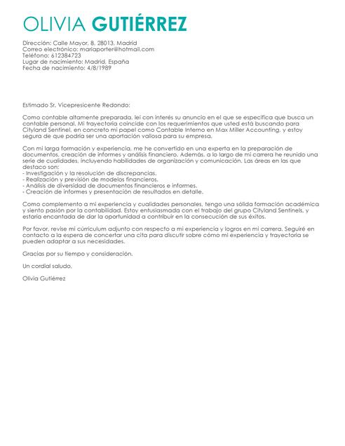modelos de currculum vtae y cartas de presentacin ejemplos de cv gratis cv gratisprofessional cover lettercv - Ejemplo De Cover Letter