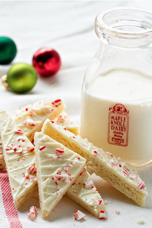 Peppermint Sugar Cookie Bark from @bakingaddiction