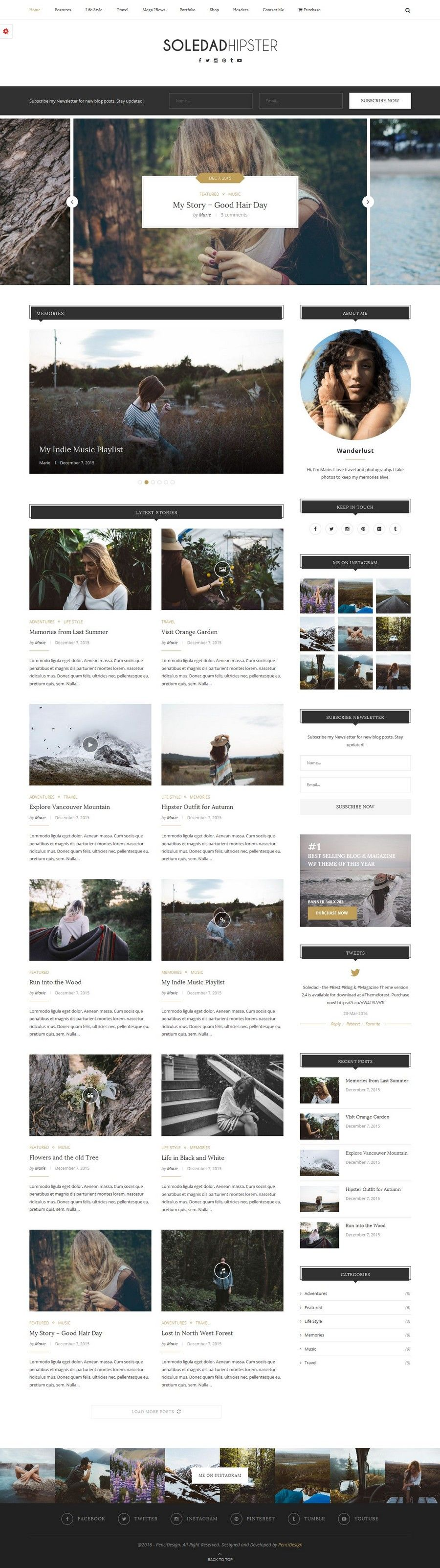 Hipster Magazine Theme for Wordpress