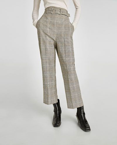 21cdde70 Image 2 of HIGH RISE TROUSERS WITH BELT from Zara   Cool Pants ...