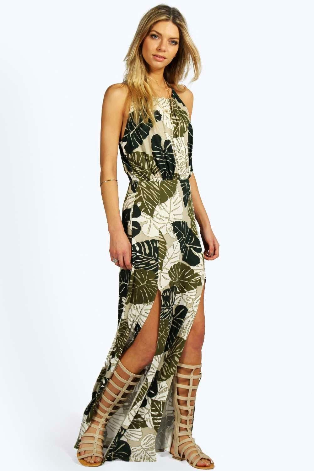 Tropical style maxi dresses