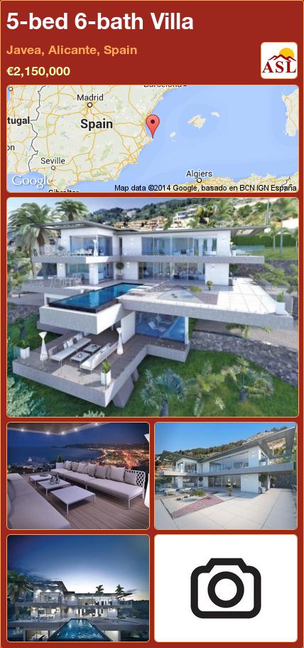 5bed 6bath Villa in Javea, Alicante, Spain Save Villas