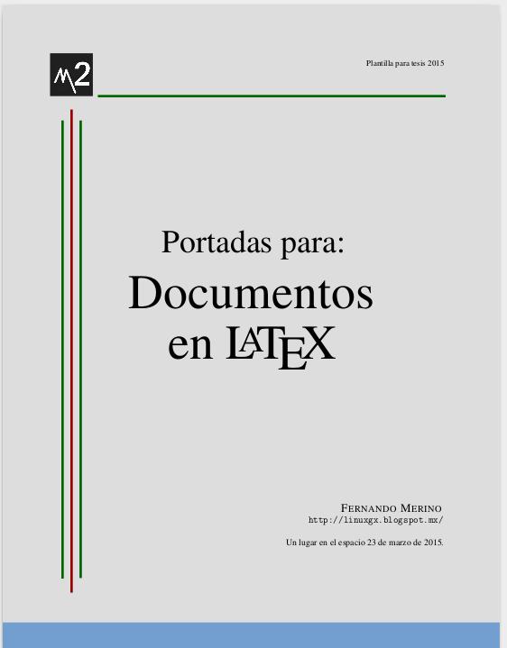 Crear portadas para Latex ~ LiNuXiToS | LaTeX | Pinterest | Crear ...