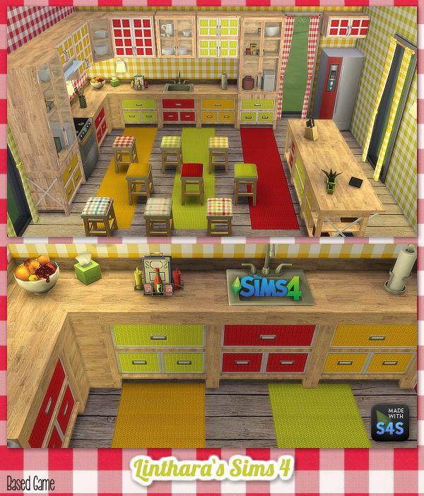 Sims Stuff 4 Kitchen: Lintharas Sims 4: Kitchen Amelie • Sims 4 Downloads