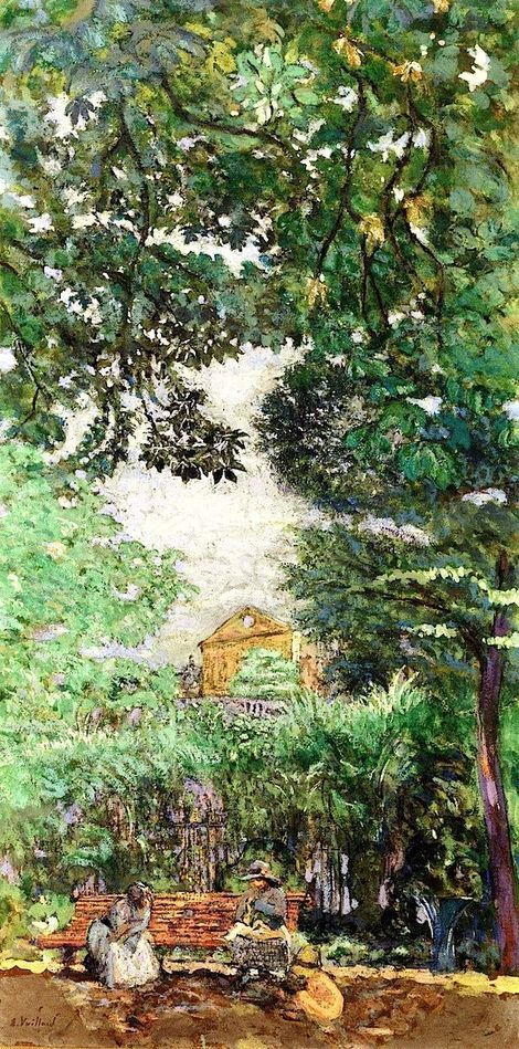 Edouard Vuillard, The Bench (Luxembourg Garden) on ArtStack #edouard-vuillard #art