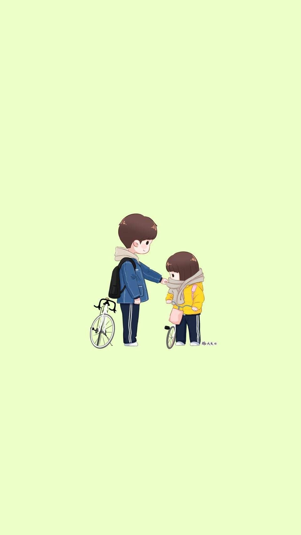 Little Couple Cute Love Cartoons Cute Couple Wallpaper A Love So Beautiful