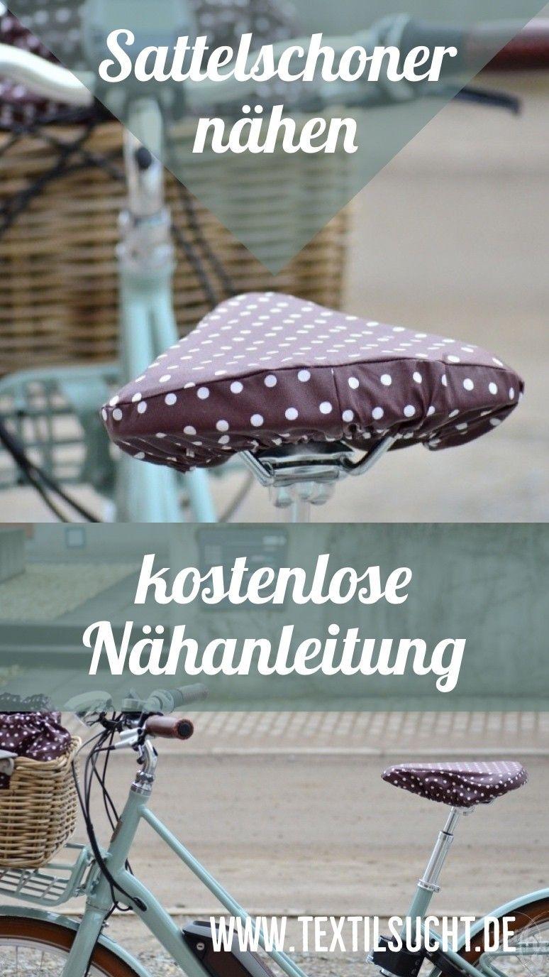 Nähanleitung: Sattelbezug für's Fahrrad nähen #textiledesign