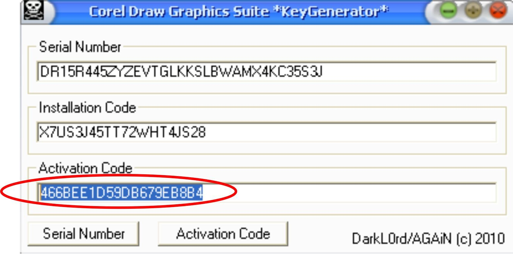 corel x5 serial number key