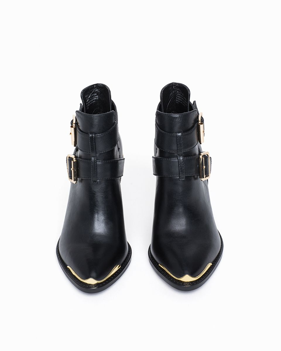 4f27d029d6c Metal toe black booties | Shoes in 2019 | Shoes, Shoe boots, Fashion