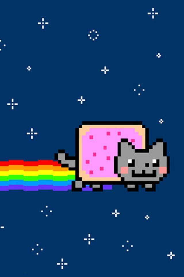 Nyan Cat Iphone Background Iphone Backgrounds Cat