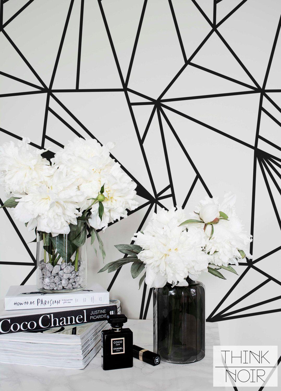 Bande Papier Peint Salon minimalistic stripe papier peint amovible / self adhesive ou