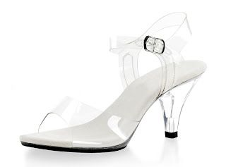 1a1631ec645 clear wedding shoes Demure and Elegant Women s Clear Strappy Sandals with 3  Inch Lucite Heels  38.95