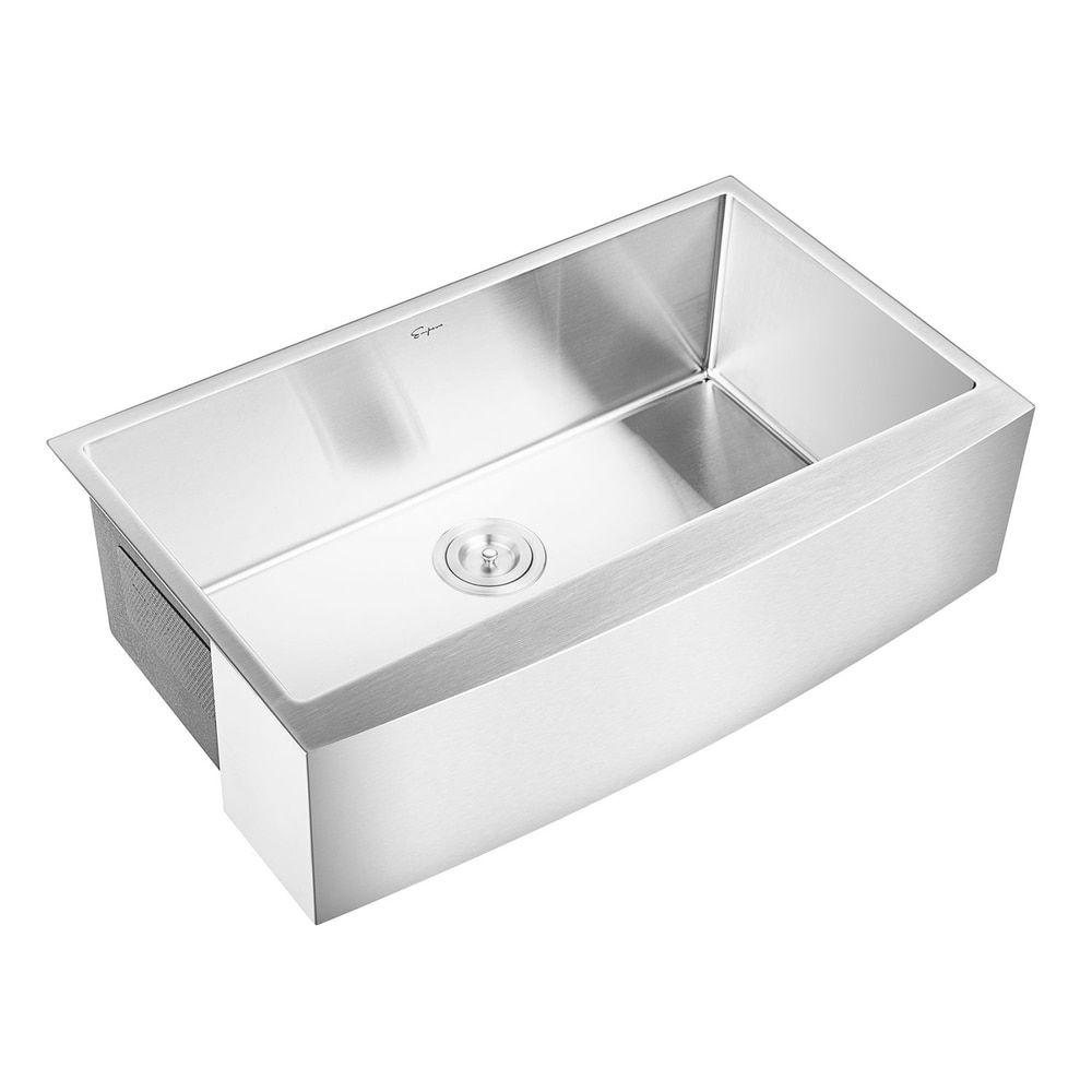 36 In W X 22 In L Stainless Steel Kitchen Bathroom Bar Sink