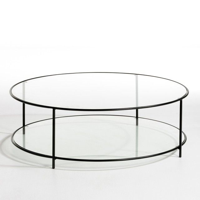 Sybil Two Tier Round Coffee Table In Tempered Glass Round Glass Coffee Table Black Glass Coffee Table Round Coffee Table