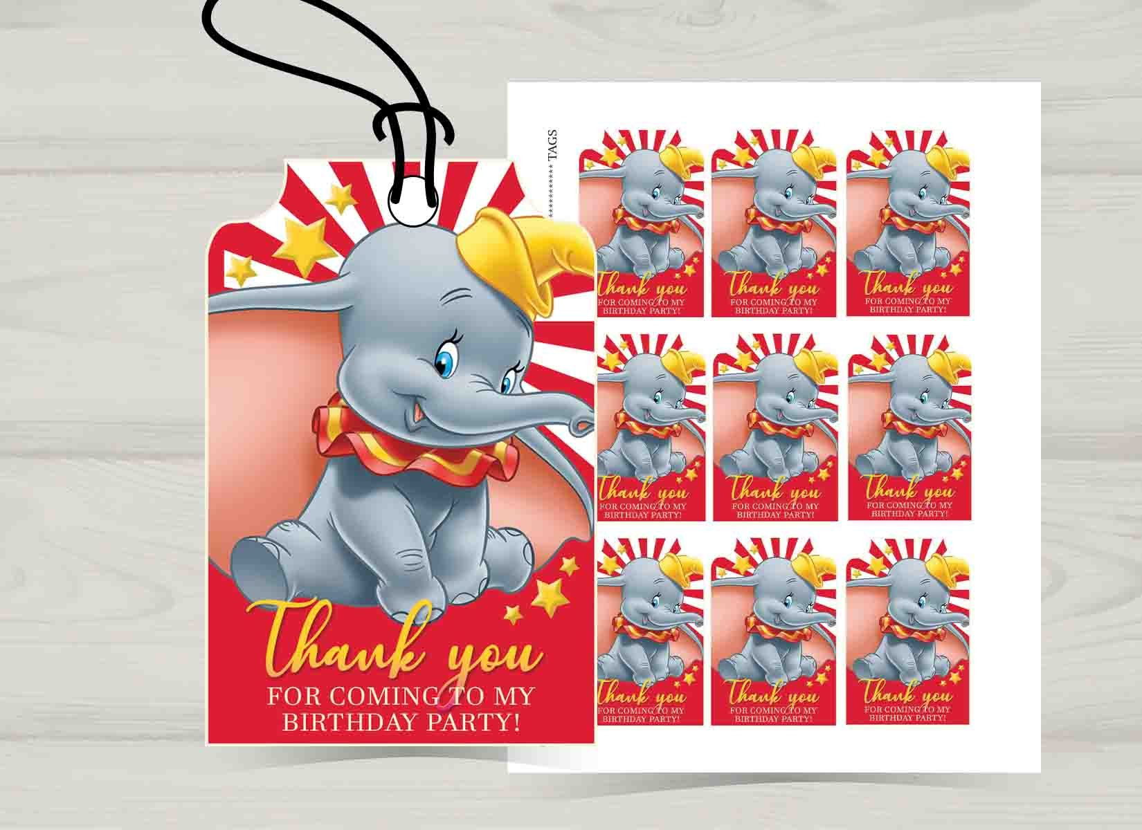 Dumbo Thank You Tags Digital Files Etsy Thank You Tags Etsy Digital Files