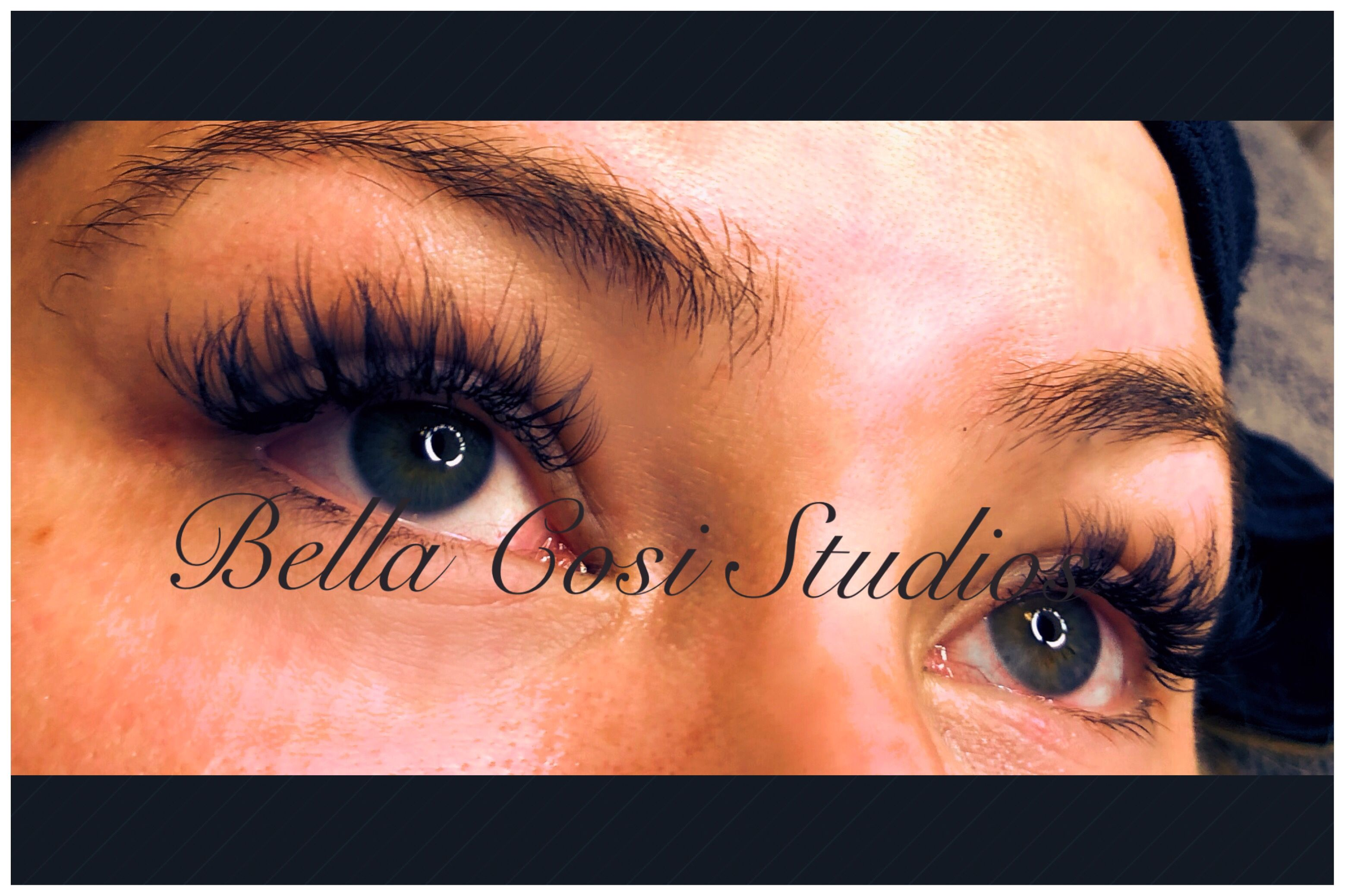 4e87eacfd3a Classic and Volume Lashes/ Hybrid. Perfect for clients wanting more of the  full and thicker look but not so dramatic. You can customize the look. Bella  Cosi ...