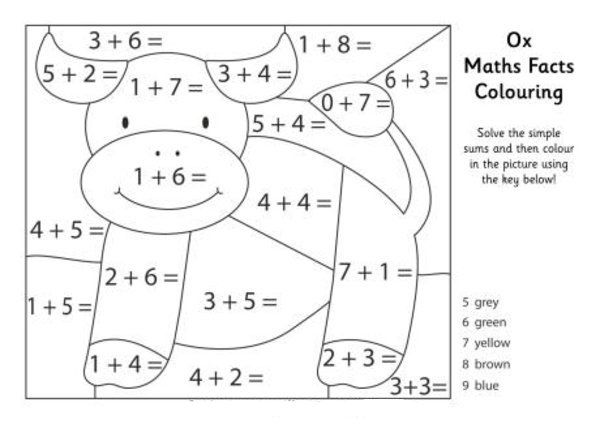 math facts coloring pages - photo#8