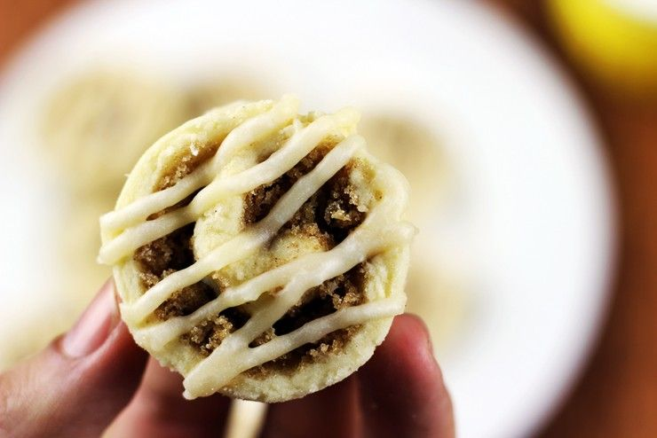 Mini Cinnamon Roll Sugar Cookies with Cream Cheese Icing will satisfy your cinnamon roll cravings without nearly as much effort!