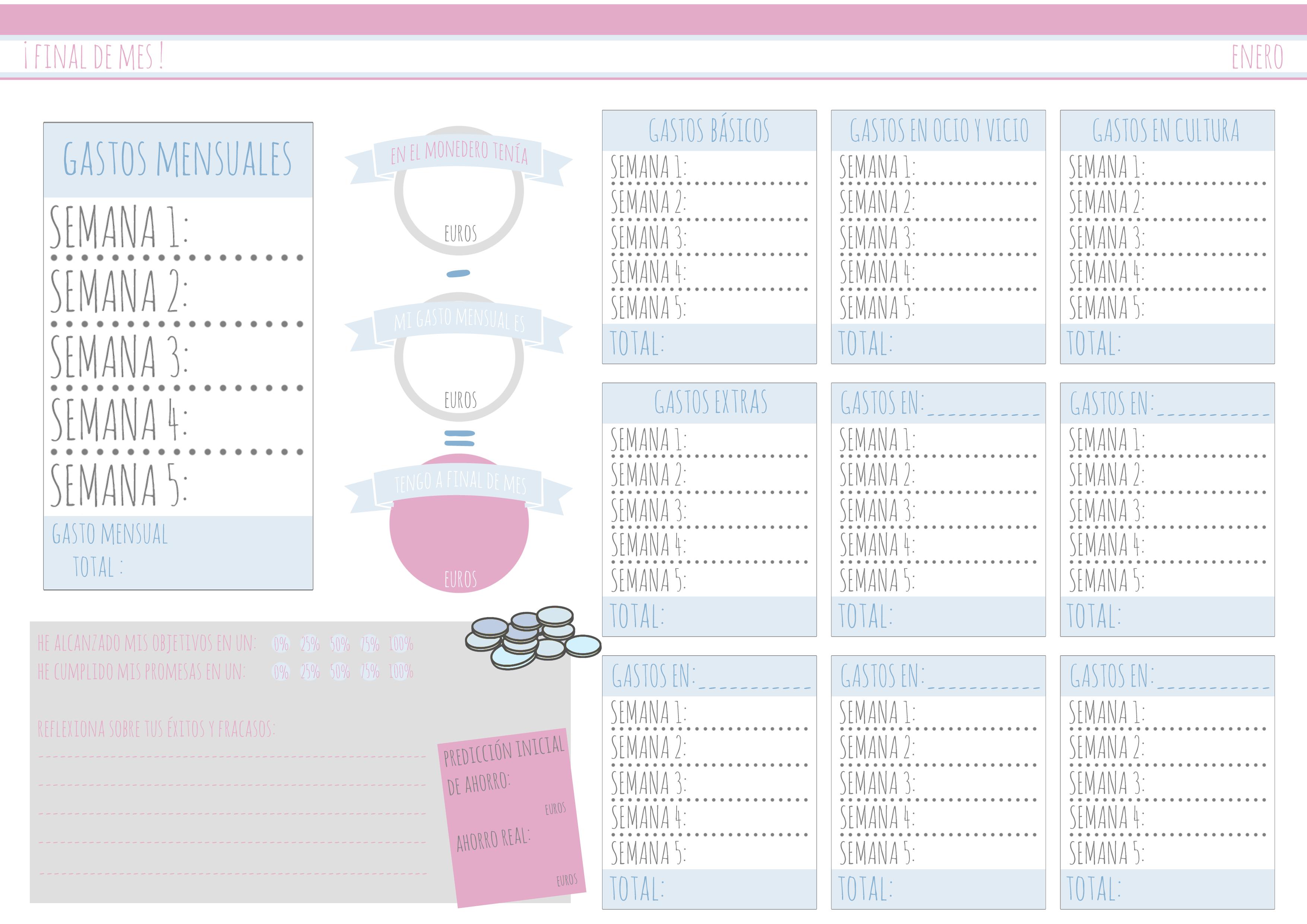 Ahorro Agenda Para Imprimir Kakebo Diy Agendas Agenda Para