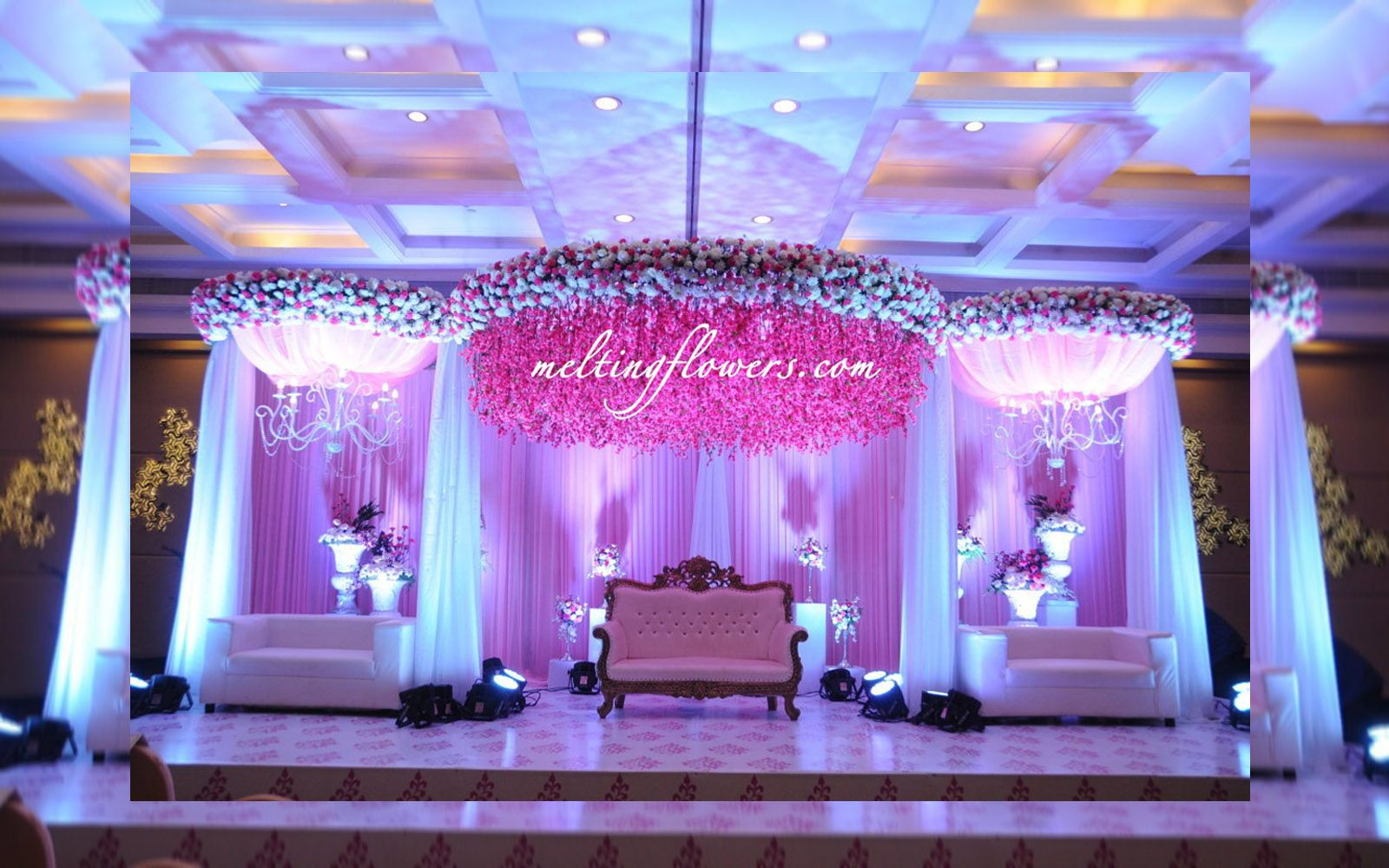 Wedding Stage Decorations At Le Meridian Bangalore Wedding Stage