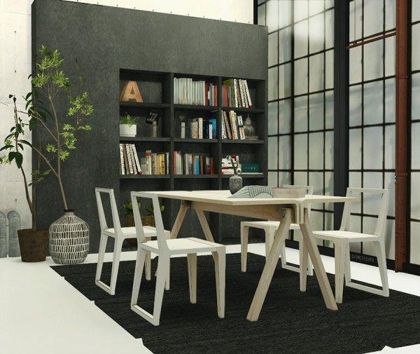 Welcome: Anye Barca Dining Set Riekus13 • Sims 4 Downloads