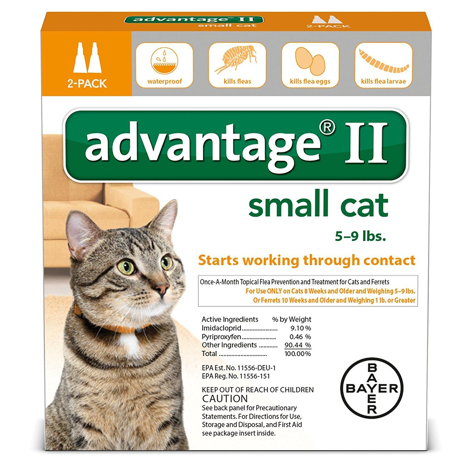 Advantage II Small Cat 2 Pack Visit the image link more details
