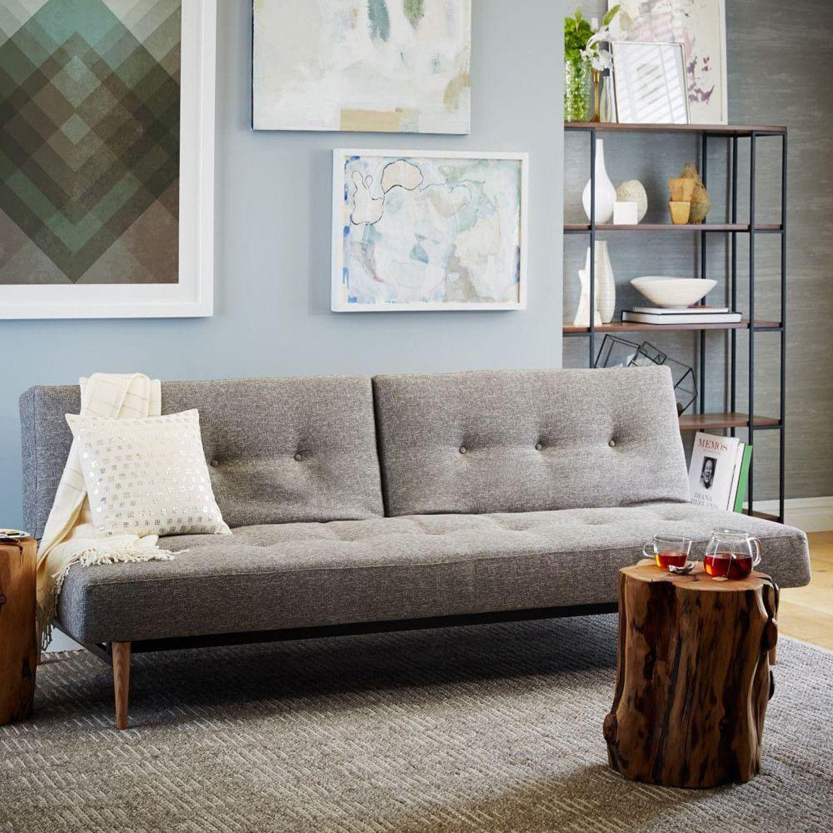 """MidCentury Double Futon Sofa (82"""") Futon sofa, Futon"""