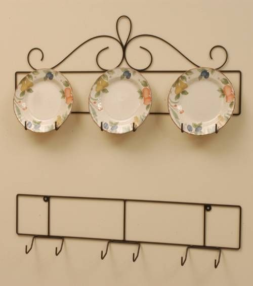 wrought iron plate hanger horizontal 3 place