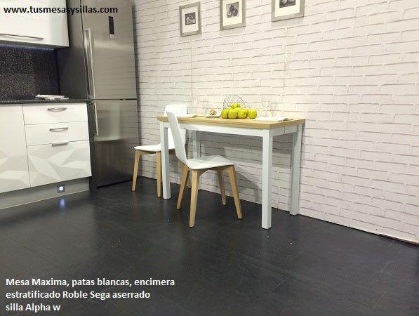 mesa extensible estrecha con poco fondo para cocinas modernas ...