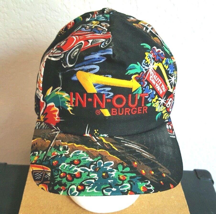 In N Out Burger Ball Cap Trucker Cap Hat M L Snap Back Bright Colorful USA  Made  InNOutBurger  BaseballCap 74f09da8f82b