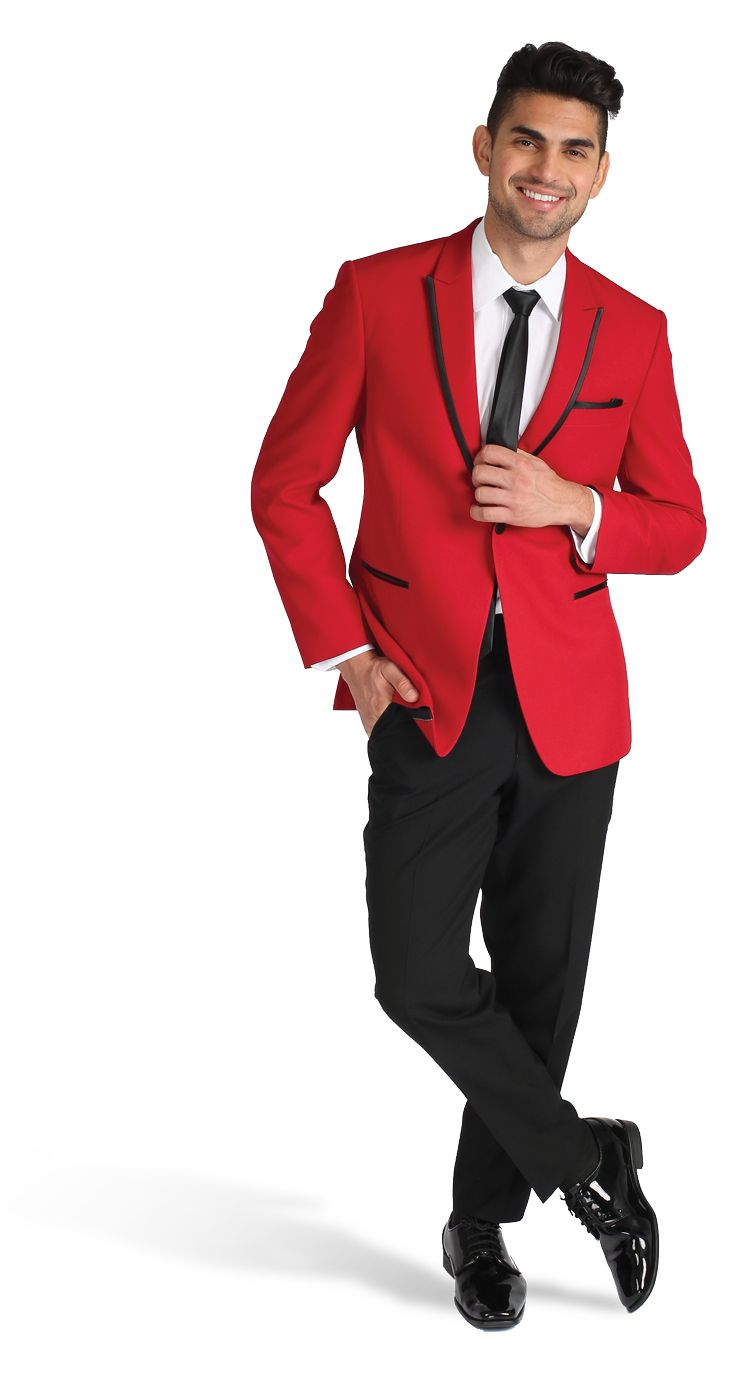 red tuxedo for prom. black and red prom tux | Tux or alternative ...