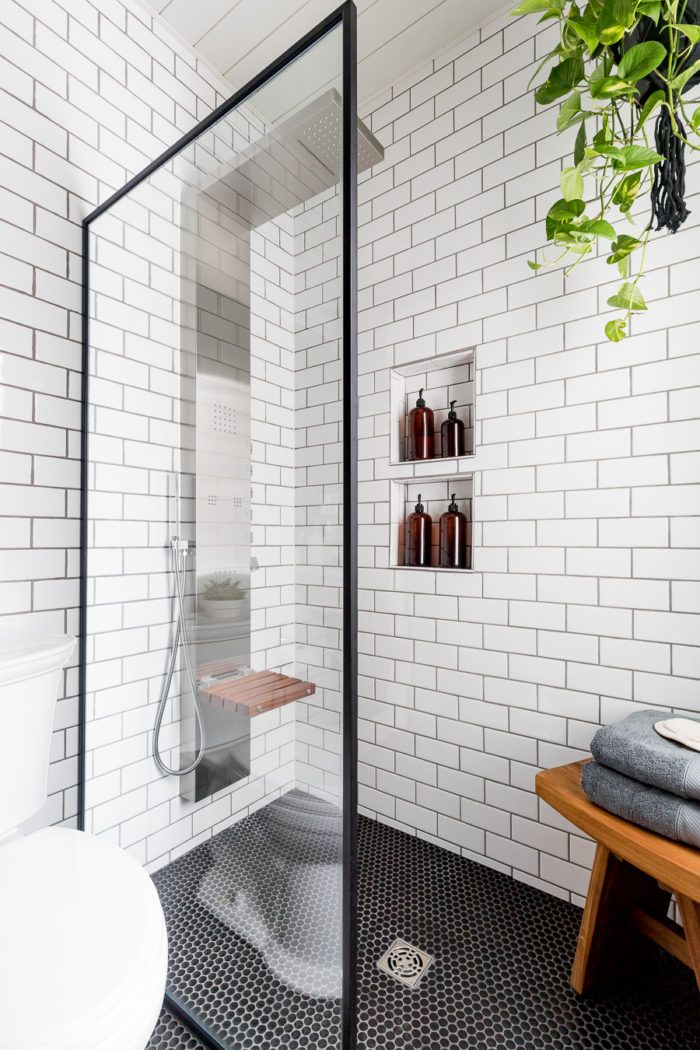 Black and White Industrial Bathroom - Cherished Bliss