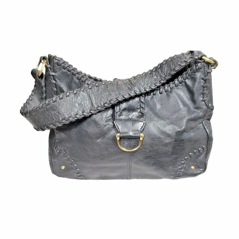 Coldwater Creek Black Handbag Leather Inner Pocket Shoulder Bag   ColdwaterCreek  ShoulderBag cf0740bfb4475