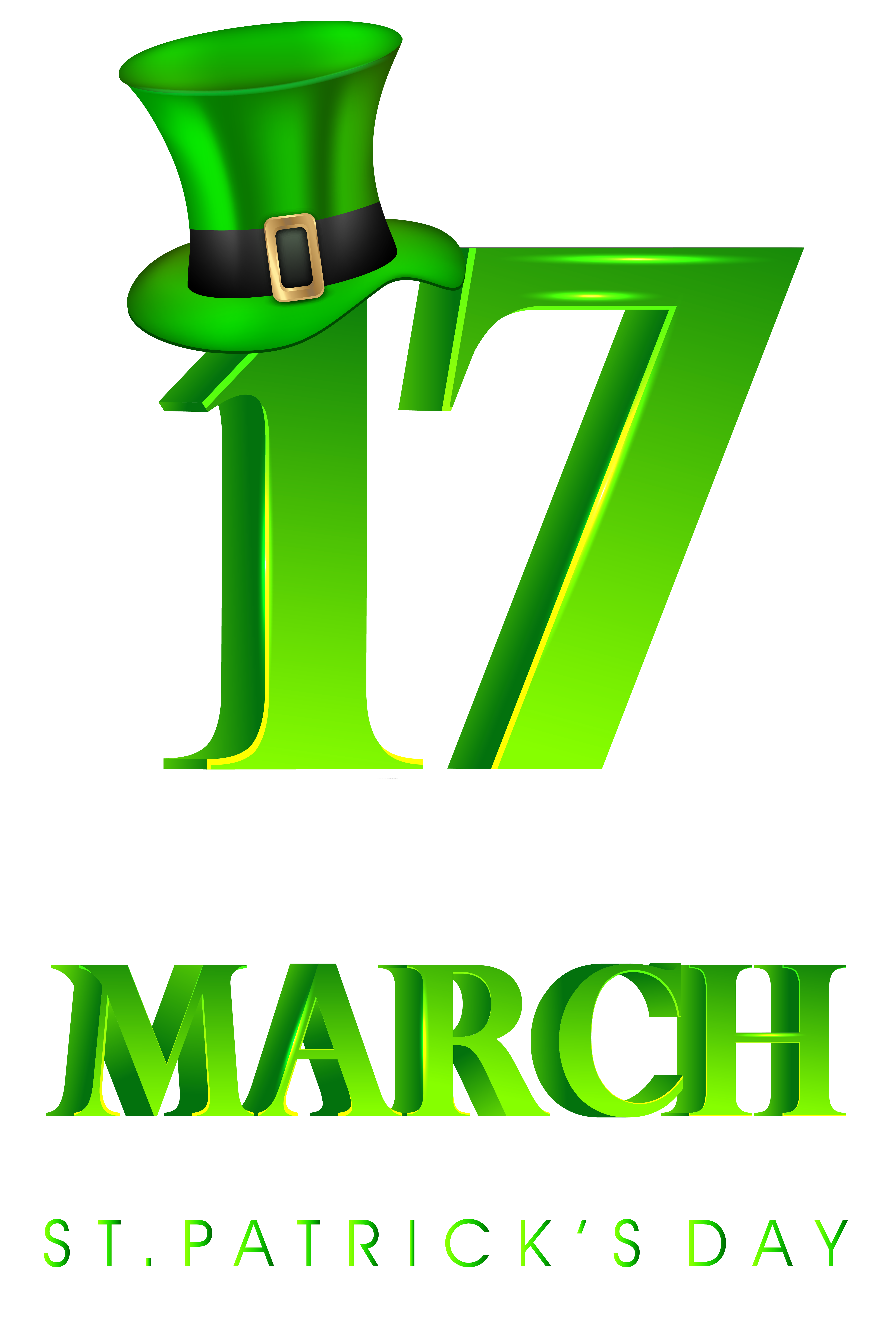 17 March St Patricks Day Transparent Png Clip Art Image