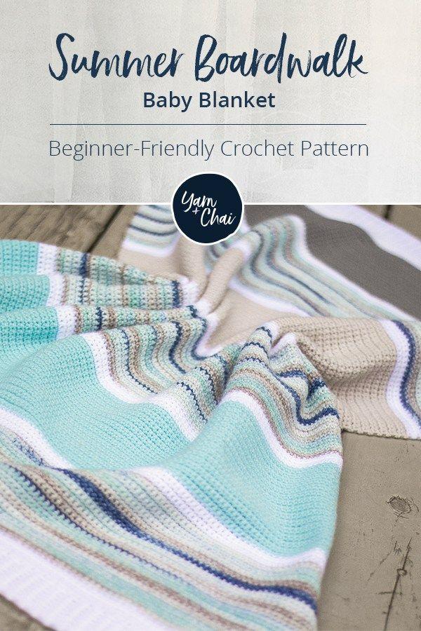 Summer Boardwalk Baby Blanket | Baby and kids | Pinterest | Manta ...